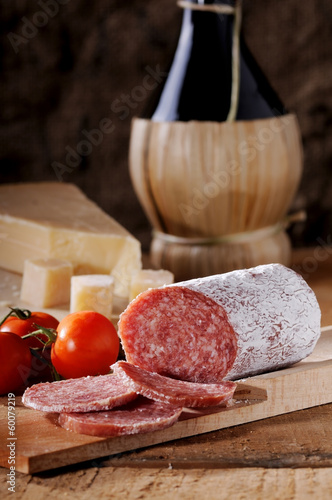 appetizer slices of salami