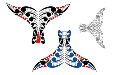 Maori Koru Whale Tail Design