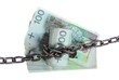 Polish currency with chain for security and investment