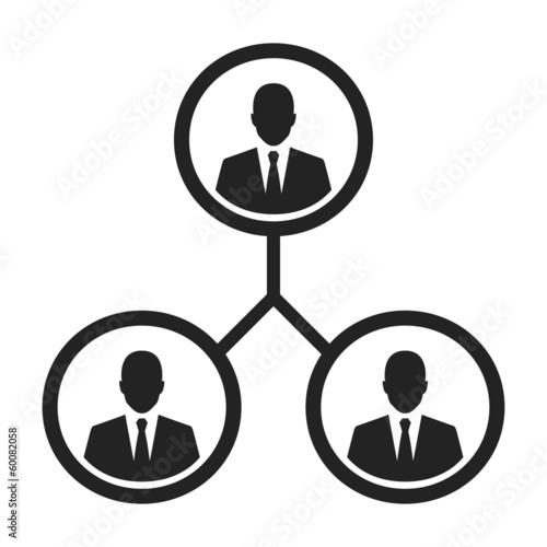 business management and human resource concept icon