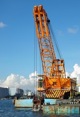 Large Dredging Crane with Scoop