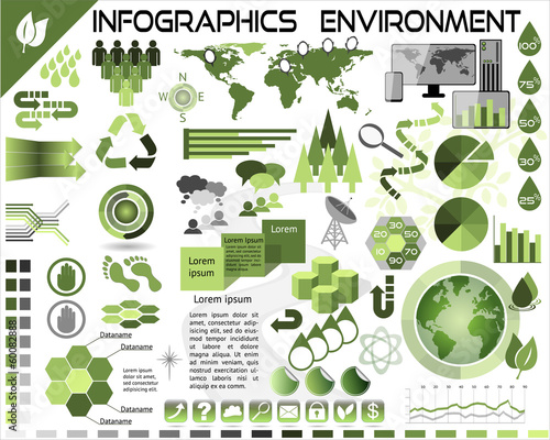 Infographics Environment Ecology EPS10