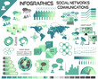 Infographics Communications Social Networks EPS10