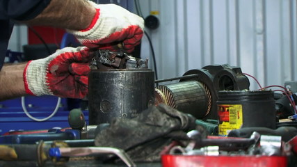 Repairing electrical starter