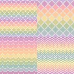 seamless pastel colors geometric wave pattern