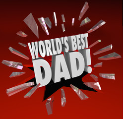 World's Best Dad Parenting Award Honor Top Father