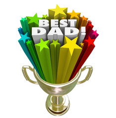 Best Dad Prize Award Trophy Top Father Parenting Skills
