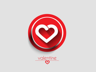 valentine's day icon, vector illustration.