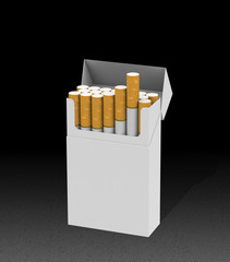 Die Zigarettenschachtel