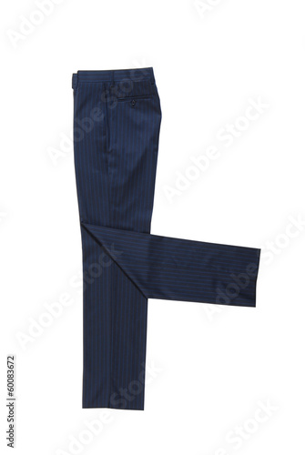 male blue classical trousers