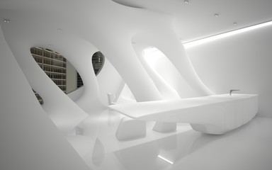 A series of abstract images of the interior of the penthouse. In