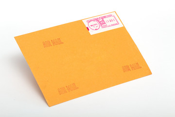 Yellow post envelopes with letters