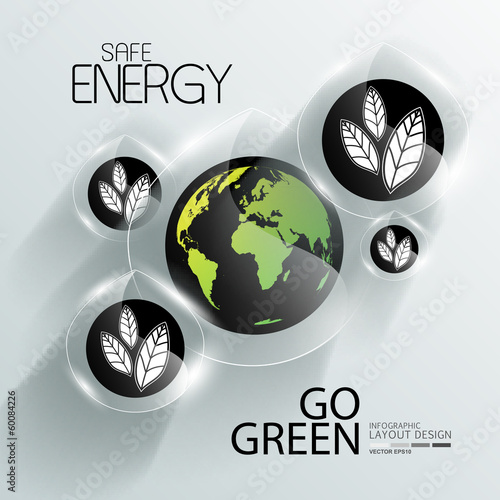 Infographic for nature and go green