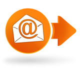 courrier électronique sur symbole web orange