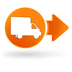 livraison sur symbole web orange