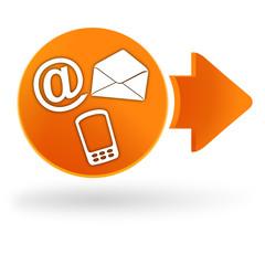 nous contacter sur symbole web orange