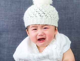 Cute baby and cry
