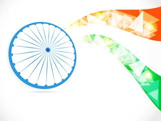 Indian Independence Day/ Republic Day background with 3D Ashoka