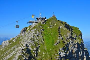 Seilbahn am Gipfel