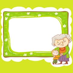 Grandma And Grandson Frame.