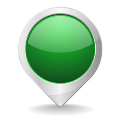 Green metallic pin button