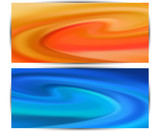 two wave soft pastel  abstract  backgrounds  for design