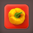 Bell pepper, long shadow vector icon