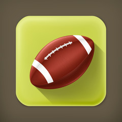 American Football, long shadow vector icon