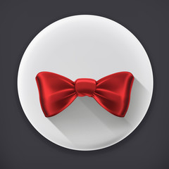 Bow tie, long shadow vector icon