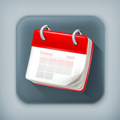 Calendar, long shadow vector icon