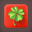 Lucky Clover, long shadow vector icon
