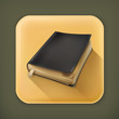 Old book, long shadow vector icon