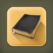 Old book, long shadow vector icon
