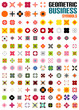 Set of colorful editable business symbols