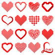 16 Abstract Red Hearticons