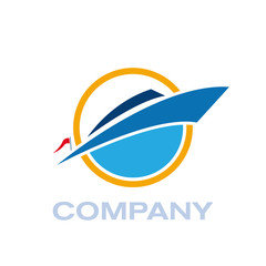 Vector Logo yacht and boat