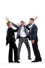 Business Team mit Erfolg
