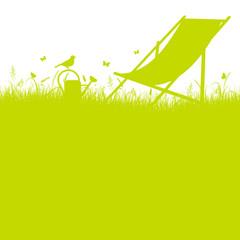 Summer Meadow Canvas Chair