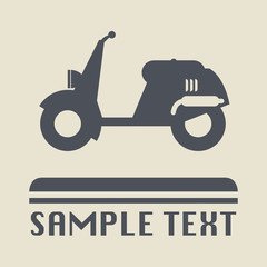Scooter icon or sign, vector illustration