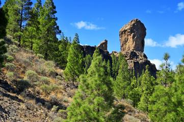 Roque Nublo monolith in Gran Canaria, Spain