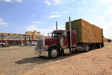 camion transport de foin, Arizona