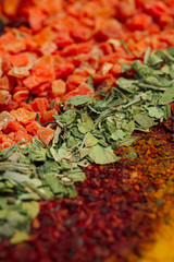 Set of spices for cooking