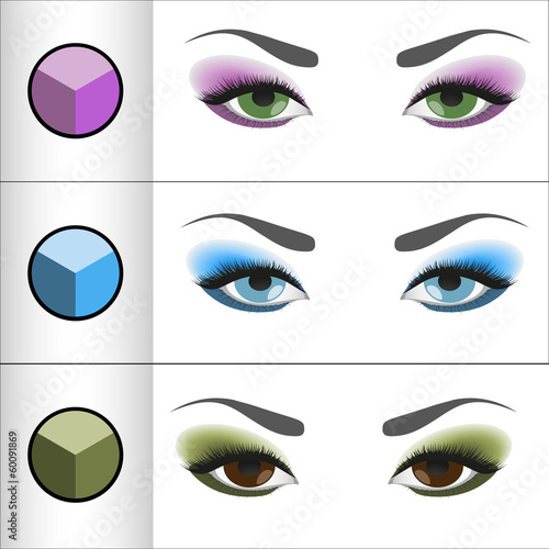Shadows Pallettes for different eye colors