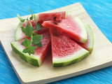 slices of ripe watermelon