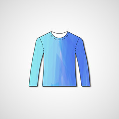 Abstract illustration on sweater, template editable.