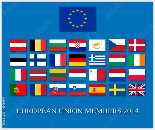 european union member countries flags