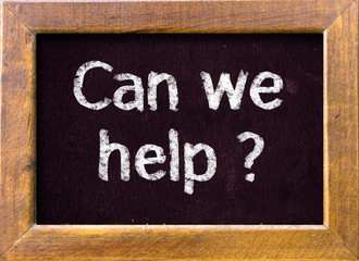 Can we help ? on blackboard