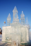 PERM - FEBRUARY 17: Castle in Ice town, on 2012 in Russia. poster