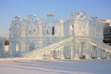 PERM - FEBRUARY 17: Theater in Ice town, on February 17, 2012