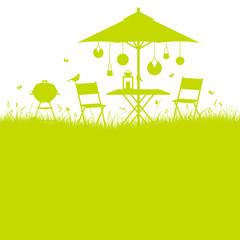 Background Summer Garden Barbecue